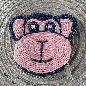 Mini Beaded monkey change bag